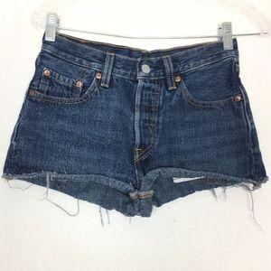 Levis 501 Mom Blue Denim Jeans Size W24